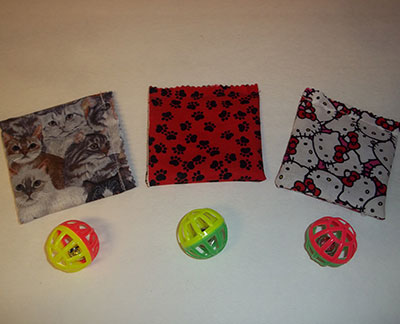 Catnip Pouches With Bells 3 Pack